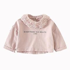 billige Babyoverdele-Baby Pige Basale Trykt mønster Langærmet T-shirt