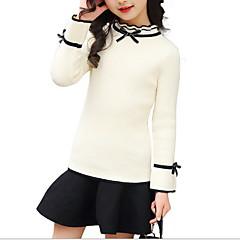 billige Sweaters og cardigans til piger-Baby Pige Basale Ensfarvet Langærmet Trøje og cardigan