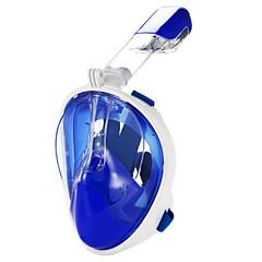 billiga Dykmasker, snorklar och simfötter-Dykmasker / Snorkelmask Anti-Dimma, Heltäckande ansiktsmasker, Under vattnet enda fönster - Simmning, Dykning Silikon, pvc - för Vuxen /