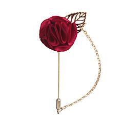 billige Motebrosjer-Herre Klassisk / Elegant Nåler - Blomst Europeisk, Romantikk Brosje Blå / Vin / Lys Rosa Til Bryllup / Fest