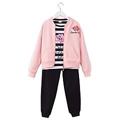 billige Tøjsæt til piger-Børn Pige Basale Sport / Skole Blomstret Langærmet Bomuld Tøjsæt