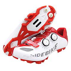 billige Sykkelsko-SIDEBIKE Mountain Bike-sko Karbonfiber Vanntett, Anti-Skli, Demping Sykling Rød / Hvit Herre