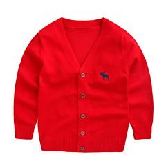 billige Sweaters og cardigans til babyer-Baby Pige Aktiv Ensfarvet Langærmet Polyester Trøje og cardigan Rød 100