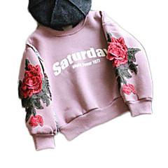 billige Hættetrøjer og sweatshirts til piger-Børn Pige Basale Daglig Ensfarvet / Blomstret Langærmet Normal Nylon Hættetrøje og sweatshirt Lyserød 100