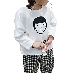 billige Pigetoppe-Baby Pige Ensfarvet Langærmet T-shirt