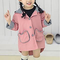 billige Overtøj til babyer-Baby Pige Geometrisk Langærmet Trenchcoat