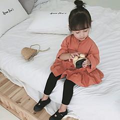 billige Babyunderdele-Baby Pige Basale Daglig Ensfarvet Polyester Leggings Sort