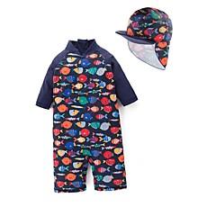 billige Badetøj til drenge-Børn / Baby Drenge Strand Trykt mønster Badetøj