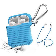 billige Tilbehør til hodetelefoner-Headphone Case / Hodetelefon arrangør Silikon Blå / Svart / Grå 1 pcs