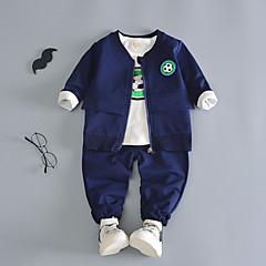 tanie Odzież dla chłopców-Dzieci Dla chłopców Aktywny Wyjściowe Nadruk Długi rękaw Bawełna Komplet odzieży