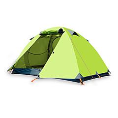 billige Telt og ly-BSwolf 2 personer Familie Camping Telt Dobbelt Lagdelt Stang camping Tent Utendørs Vindtett, Regn-sikker, Pusteevne til Fisking / Strand / Camping / Vandring / Grotte Udforskning >3000 mm Terylene