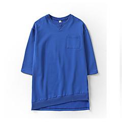 billige Pigetoppe-Børn Pige Basale Geometrisk Langærmet Bomuld T-shirt