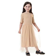 tanie Odzież dla dziewczynek-Dzieci Dla dziewczynek Aktywny / Słodkie Impreza Jendolity kolor Krótki rękaw Sukienka
