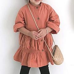 billige Pigekjoler-Børn Pige Ensfarvet Langærmet Kjole