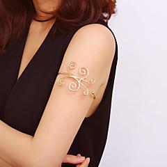 baratos Bijoux de Corps-Cadeia braço senhoras, Tropical, Fashion, Boho Mulheres Dourado / Prata Bijuteria de Corpo Para Bandagem / Bikini