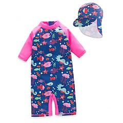 billige Badetøj til piger-Børn / Baby Pige Trykt mønster Badetøj