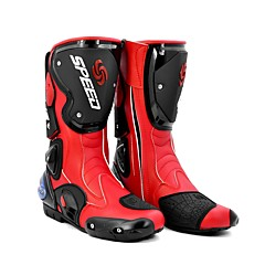 tanie Wyposażenie ochronne-Jazda plemię profesjonalne wyścigi motocross buty męskie buty wysokie buty modne skórzane buty motocyklowe