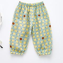 baratos Roupas de Meninas-Infantil Para Meninas Estampado Calças