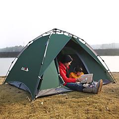 billige Telt og ly-BSwolf 3 person Familie Camping Telt Dobbelt Lagdelt Automatisk camping Tent Utendørs Vindtett, Regn-sikker, Anvendelig til Fisking / Strand / Camping / Vandring / Grotte Udforskning 2000-3000 mm
