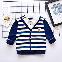 billige Overdele til drenge-Baby Drenge Vintage Ensfarvet Langærmet Bomuld Bluse