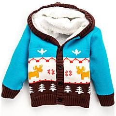 billige Jakker og frakker til drenge-Baby Drenge Geometrisk Langærmet Jakke og frakke