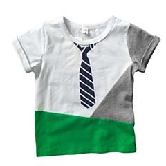 billige Gutteklær-Baby Gutt Ensfarget Kortermet T-skjorte