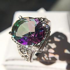 billige Motering-Dame Elegant Statement Ring Ring - Platin Belagt Kronblad, Clover Stilfull, Overdrivelse, Fargerik 6 / 7 / 8 / 9 / 10 Sølv Til Fest Bursdag