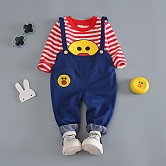 billige Tøjsæt til drenge-Børn Drenge Stribet / Trykt mønster Langærmet Tøjsæt
