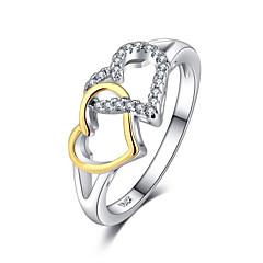 billige Motering-Dame Elegant Ring - Hjerte Romantikk 6 / 7 / 8 Sølv Til Gave