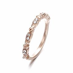 billige Motering-Dame Kubisk Zirkonium Klassisk / Elegant Ring - Blad Formet, Bølge Stilfull, Enkel, Søt 6 / 7 / 8 Rose Gull Til Daglig / Ut på byen