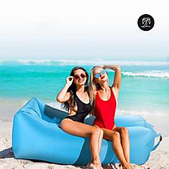 billiga Sovsäckar, madrasser och liggunderlag-21Grams Luftbädd Uppblåsbar soffa Luftmadrass     Utomhus Vår Sommar Höst Vattentät Bärbar Snabb uppblåsbar Design-Idealisk soffa Nylon Camping Strand Utomhus
