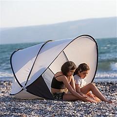 billige Telt og ly-2 personer Strandtelt camping Tent Utendørs Lettvekt, Regn-sikker, Anvendelig til Strand <1000 mm Terylene 130*130*105 cm