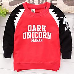 billige Hættetrøjer og sweatshirts til drenge-Børn Drenge Trykt mønster / Farveblok Langærmet Hættetrøje og sweatshirt