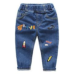 billige Babyunderdele-Baby Pige Vintage Ensfarvet Jeans