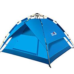 billige Telt og ly-BSwolf 3 person Familie Camping Telt Dobbelt Lagdelt Automatisk camping Tent Utendørs Vindtett, Regn-sikker, Pusteevne til Fisking / Strand / Camping / Vandring / Grotte Udforskning 1500-2000 mm