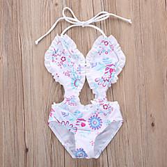 billige Badetøj til piger-Baby Pige Blomstret Uden ærmer Badetøj