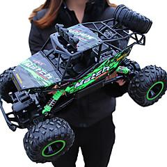 baratos Carros Controle Remoto-Carro com CR Giantfoot Monster Truck Crawlers 4WD Canal 4 2.4G Jipe (Fora de Estrada) / Rock Climbing Car / 4WD 1:12 9 km/h Água / Dirt / à prova de choque / Simulação / Interação pai-filho
