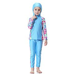 billige Badetøj til piger-Børn Pige Boheme Sport Trykt mønster Polyester / Nylon / Spandex Badetøj Blå 140