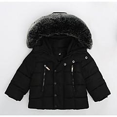 Χαμηλού Κόστους Μπουφάν και παλτό για αγόρια-Νήπιο Αγορίστικα Μονόχρωμο Μακρυμάνικο Επένδυση με Πούπουλα & Βαμβάκι