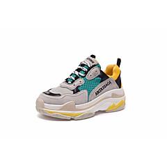 baratos Tênis de Corrida-Mulheres Tênis PU Acampar e Caminhar / Corrida / Cooper Anti-Shake, Respirabilidade, Anti-Derrapagem Tule / Pele Branco / Preto / Amarelo