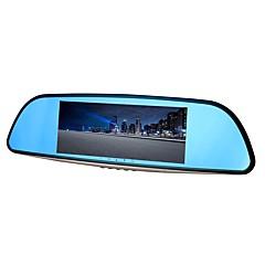 olcso DVR autóba-ziqiao xr701 teljes hd 1080p 7 hüvelykes ips éjjellátó autó dvr tükör kamera videofelvevő kettős objektív regisztrátor hátulnézet dvrs kötőjeles kamera