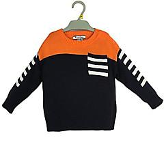 billige Sweaters og cardigans til drenge-Baby Drenge Simple Farveblok Langærmet Normal Bomuld Trøje og cardigan Orange 100