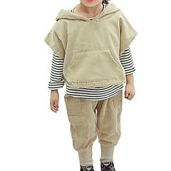 tanie Odzież dla chłopców-Dzieci Dla chłopców Solidne kolory Długi rękaw Komplet odzieży
