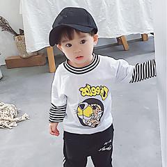 billige Hættetrøjer og sweatshirts til drenge-Børn / Baby Drenge Stribet / Trykt mønster Langærmet Hættetrøje og sweatshirt