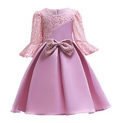 tanie Odzież dla dziewczynek-Dzieci Dla dziewczynek Patchwork Długi rękaw Sukienka