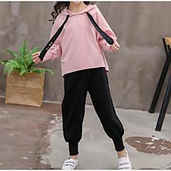 tanie Odzież dla dziewczynek-Dzieci Dla dziewczynek Solidne kolory Długi rękaw Komplet odzieży