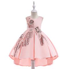 tanie Odzież dla dziewczynek-Dzieci Dla dziewczynek Solidne kolory Bez rękawów Sukienka