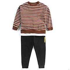 tanie Odzież dla chłopców-Dzieci Dla chłopców Prążki Długi rękaw Komplet odzieży