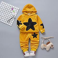 billige Babytøj-Baby Pige Ensfarvet / Galakse Langærmet Tøjsæt