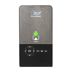 tanie Projektory-Factory OEM C2 DLP Projetor biznesowy / Projektor do kina domowego / Mały projektor LED Projektor 100 lm Android 7.1 Wsparcie 1080p (1920x1080) 30-120 in Ekran / FWVGA (854x480)